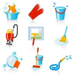 Cleaning icons vector