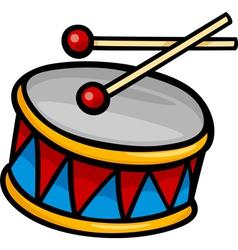 drum clip art cartoon vector image vector image