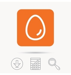 Egg icon Breakfast food sign vector image vector image