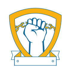 Hand with clenched fist icon vector