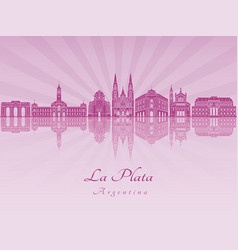 La plata in purple radiant orchid vector