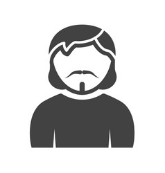 Man in goatee vector