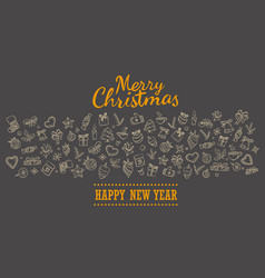 Merry christmas holiday lettering greeting card vector