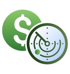Money locator gradient icon vector