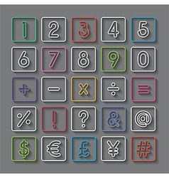 number and symbol vector image vector image