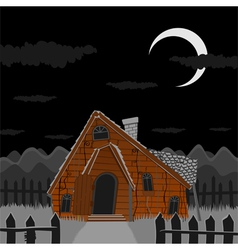 Old scary house vector