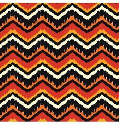 Orange Ethnic Pattern vector image vector image