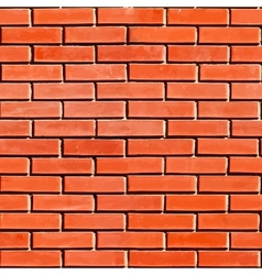 Red Seamless Brickwall vector image vector image
