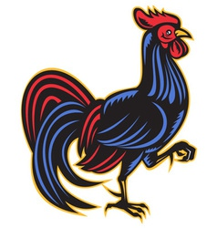 Rooster cockerel marching vector