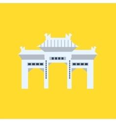 Rsing Shan Monastery Memorial Archway In Hong Kong vector image vector image