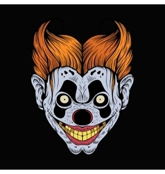 scary red clown vector image