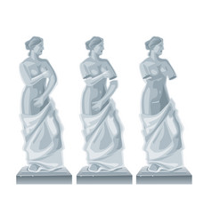 Sculpture venus - goddess of love flat vector