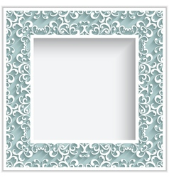 Square paper lace frame vector image vector image