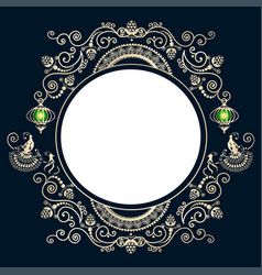 vintage frame with birds vector image vector image