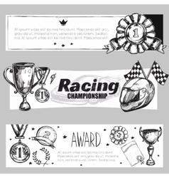 Winner Medal Banner Set vector image vector image