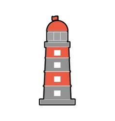 Lighthouse sea lifestyle nautical marine icon vector