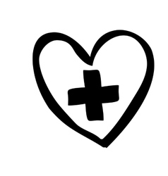Medical cross icon image vector