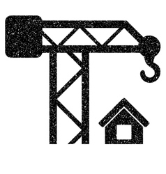 Construction crane grainy texture icon vector