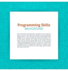 Programming paper template vector