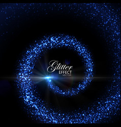 Magic glowing trail of particles vector