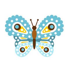 Light blue beautiful butterfly vector