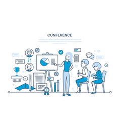 Business conference statistical analysis finance vector