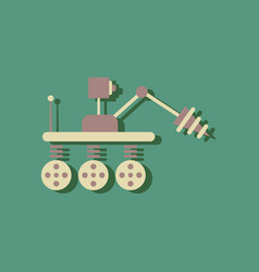 flat icon design collection space robot in vector image