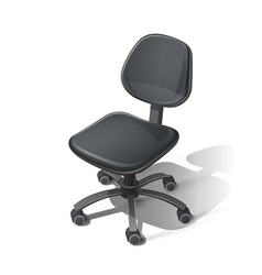 Black office chair vector