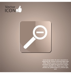 Zoom in web icon vector