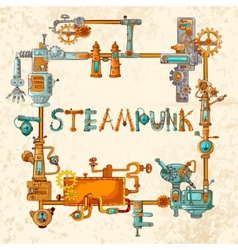 Industrial machines frame vector