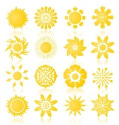 sun icons2 vector image