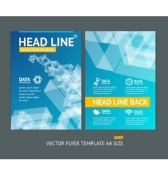 Abstract geometric shape brochure flyer vector