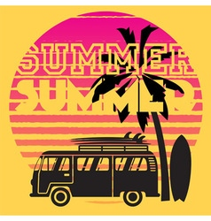 Summer road trip vector