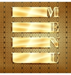 Menu golden ornament 3 vector