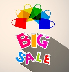 Big sale colorful paper title with transparent vector