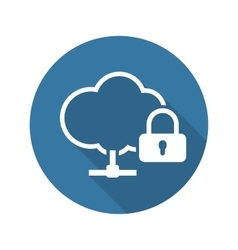 Secure connection icon flat design vector