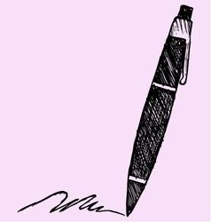 ballpoint pen vector image