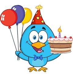 Birthday Bird Cartoon vector image