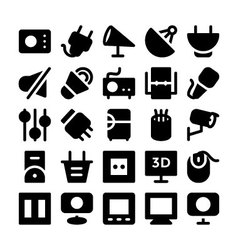 Electronics icons 10 vector