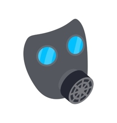 Black gas mask icon isometric 3d style vector