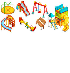 A set of of the playground vector image
