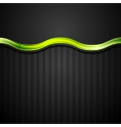 Abstract black striped corporate background with vector image vector image