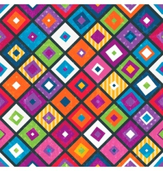 Abstract seamless background with squares vector image vector image