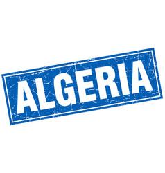 Algeria blue square grunge vintage isolated stamp vector