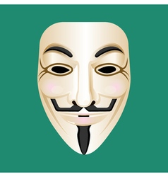 Anonymous mask isolated on green mysterious person vector