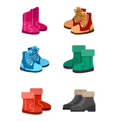 Autumn and winter boots vector