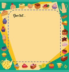 background of different sweets vector image vector image