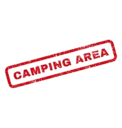 Camping area rubber stamp vector