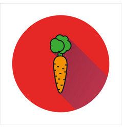 Carrot simple icon on white background vector
