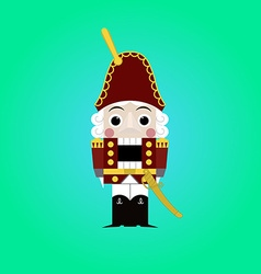 Christmas nutcracker - soldier figurine icon vector